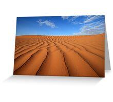 Sand Dune Ripples, Simpson Desert, Australia Greeting Card