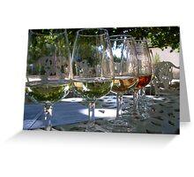 Dégustation de Vins Greeting Card