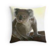 Koala with curiousity Throw Pillow