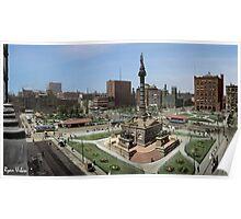 Cleveland's Public Square 1907 Colorization Poster
