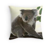 Cute look of a koala Throw Pillow