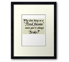 Good question Framed Print