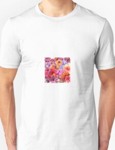Floral Fantasy in Pink Unisex T-Shirt