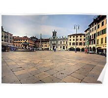 Market Square Udine Italy Poster