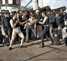Boxing match aboard the U.S.S. New York. July 3, 1899.  by ryanurban