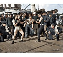 Boxing match aboard the U.S.S. New York. July 3, 1899.  Photographic Print