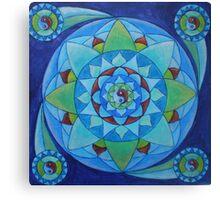 Inner balance free-hand mandala Canvas Print