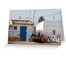 The Streets of Dakar Greeting Card
