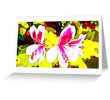 Watercolour Flowers Greeting Card