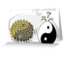 Two Scrambled Eggs - Yin-Yang Greeting Card