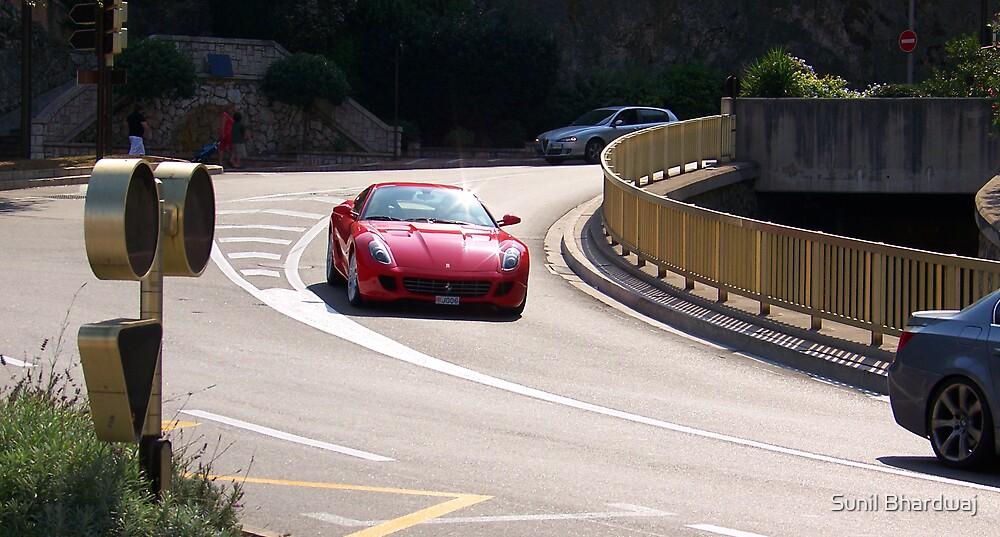 Red Ferrari California  by Sunil Bhardwaj