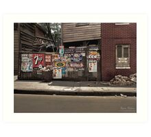 The back of a Baltimore grocery store, July 1938 Art Print