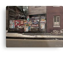 The back of a Baltimore grocery store, July 1938 Metal Print