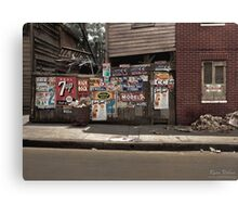 The back of a Baltimore grocery store, July 1938 Canvas Print