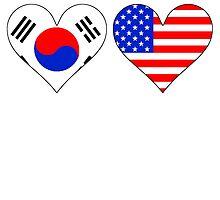 Korean American Hearts by GiftIdea