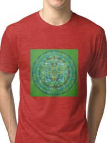 Angel of New Beginnings free-hand mandala Tri-blend T-Shirt