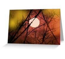 colorful moon Greeting Card