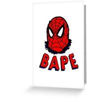 Bape Spidey Greeting Card
