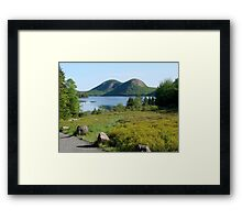 Jordan Pond and the Bubbles, Late Summer  Framed Print