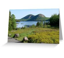 Jordan Pond and the Bubbles, Late Summer  Greeting Card