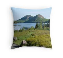Jordan Pond and the Bubbles, Late Summer  Throw Pillow