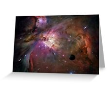 Orion Nebula - A Fantasy Creation using a Hubble Telescope Image courtesy of N.A.S.A Greeting Card
