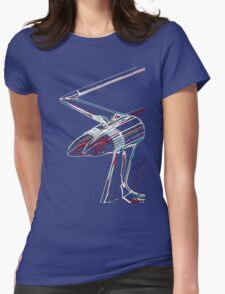 Cadillac tail fin Womens Fitted T-Shirt