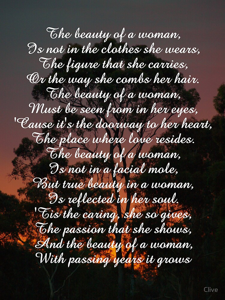 The Beauty of a Woman by Clive