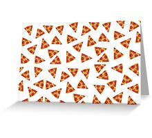 Pizza all over Greeting Card