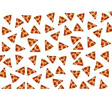 Pizza all over Photographic Print