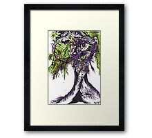 Abstract Acid Tree Of Life Framed Print