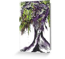 Abstract Acid Tree Of Life Greeting Card