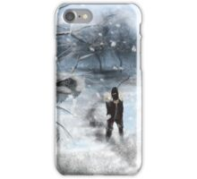 Snow Speed Painting  iPhone Case/Skin