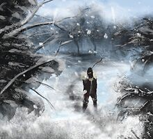 Snow Speed Painting  by Darrel Leigh