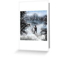 Snow Speed Painting  Greeting Card