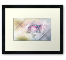 STAR OF DAVID-2- bless and protect- Art + Products Design  Framed Print