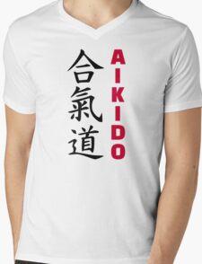 Aikido Mens V-Neck T-Shirt