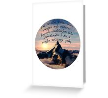 A Single Solitary Peak Greeting Card