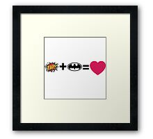 Z + Li = love Framed Print