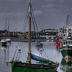 Little green boat by lurch