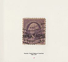 Vintage American stamp Washington by Jeppe  Knudsen Ringsted