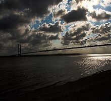 Humber Bridge Silhouette by Andy Smith