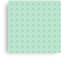 Luxury background with pearls. Silk satin. Pastel, gentle turquoise Canvas Print