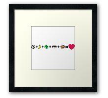 L + H + N + Li + Z = love Framed Print