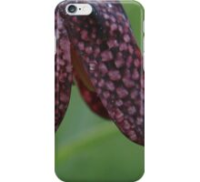 The chequered pattern of the snakes head fritillary iPhone Case/Skin