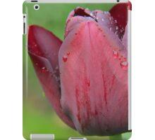 raindrops on tulips iPad Case/Skin