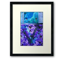 Abstracted Birds, Trees, and Sky  Framed Print