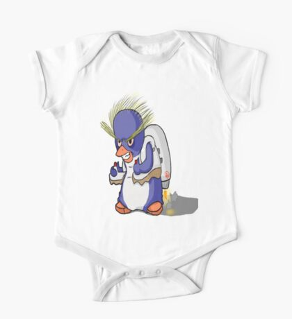 Penguin with Jet Pack One Piece - Short Sleeve
