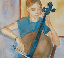 Cello Practice IV by JennyArmitage