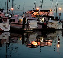 Marina at sundown by Rhonda R Clements